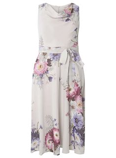**Billie & Blossom Grey Floral Midi Dress