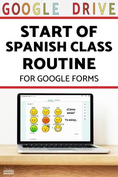 Here's a routine for the beginning of Spanish class! How to start your class each day with a check-in and Calendar Talk. Click to get started! This classroom routine is great for classroom management during Back to School or if you want to reset expectations with a new group of students! Use this routine to build relationships and vocabulary for feelings, days, months, dates, weather, and more! Check out this digital resource for use with Google Drive and Google Forms!