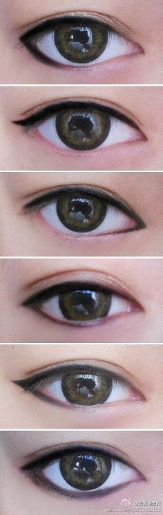 Eyeliner. Love the top one