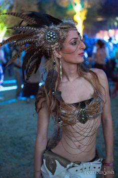CuriousJosh: Lightning in a Bottle 2012 - LA Weekly Headdress& Bra by Wickedheart