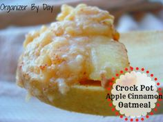Crock Pot Apple Cinnamon Oatmeal recipe to get through these cold mornings!