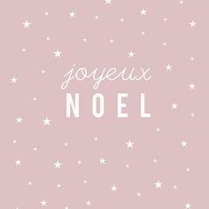 """Carte Postale """"Joyeux Noël"""" (étoile/ROSE POUDRÉ)"""