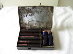 Rare World War I WWI MEDIC Medical DRUG Kit - Complete, Authentic & Original - Cocaine, Morphine, Adrenaline, Strychnine, Arecoline