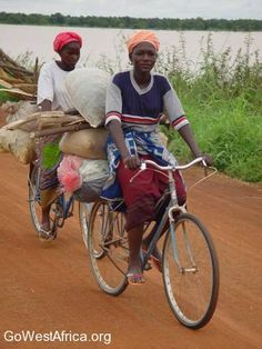 Mossi Women on Bicycles