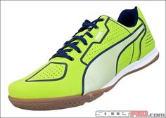 Puma Superteam Star Indoor Soccer Shoes - Lime with Blue...$63.99