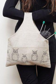 NUEVO diseño Knitter Bolsa Proyecto MYSTIC OWL Especial por KnitterBag