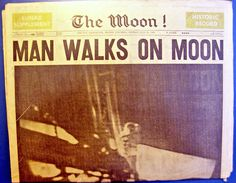 """July 21, 1969 – Neil Armstrong and Edwin """"Buzz"""" Aldrin become the first humans to walk on the Moon, during the Apollo 11 mission (July 20 in North America)"""