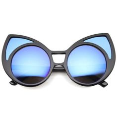 96b422823521 Super Oversize Window Cat Eye Sunglasses With Mirror Lenses 9952
