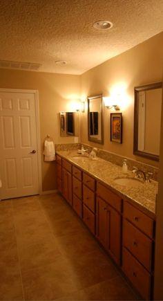 Photo On KraftMaid Ginger Glaze vanity with granite countertop