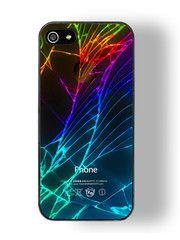 rainbow cracked iphone case