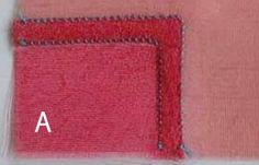 ポジャギJP:道具と技法--ポジャギ制作の縫い方の基礎(くりぬき合わせ-1)