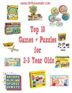 Top 10 Games & Puzzles for 2-3 year olds! | Stir the Wonder #playmatters #preschool #toddler