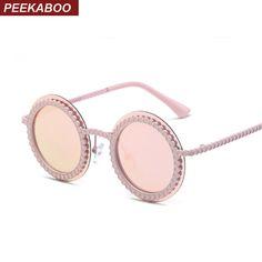 Peekaboo espelho moda polaroid óculos de sol dos miúdos com caixa de crianças rodada óculos de sol para crianças em meninas 2017 uv400 óculos de sol do metal em Óculos Escuros de Mãe & Kids no AliExpress.com | Alibaba Group