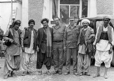 Soviet officers with mujahideen. 1986.