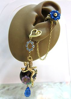 Sparkling Blue Fairy In The Blue Garden With by aldesignsjewelry