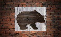 Bear wood wall art, Farmhouse Unique wall decor, New Home Housewarming Gift Rustic, Handmade Bear decorative sign, Hunter hanging wood decor #LargeHangingWall #WoodenHandmade #ReclaimedWoodWall #PaintingOnWood #BedroomBarnWood #AbstractArtDecor #HousewarmingGifts #UniqueBirthdayGift #GiftForHunter #WallDecor