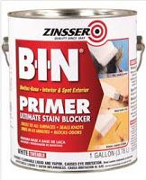 Use Zinsser BIN primer for paint to stick to laminate surfaces - How to paint kitchen cabinets