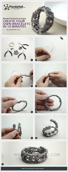 Beaded Bracelet Designs – Create Your Own Bracelets in 10 minutes from pandahall.com