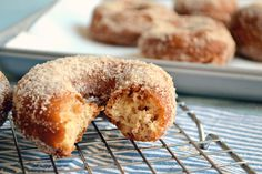 Let's talk doughnuts. Let's talk about how cider doughnuts are my most favorite doughnuts in the WHOLE WIDE WORLD, and how a perfectly simple and delicious recipe for cider doughnuts just happened ...