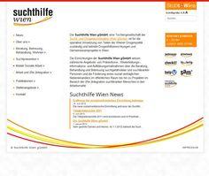Suchthilfe.at Webseite für die Stadt Wien - eine unserer Wordpress Webdesign Referenzen