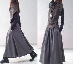 Maxiröcke - Poetry - woolen shawl dress (Q1217) - ein Designerstück von idea2lifestyle bei DaWanda