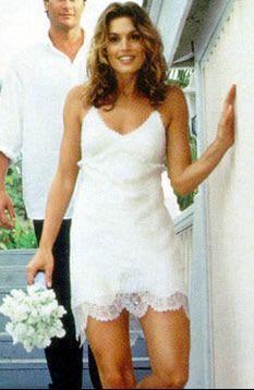 Cindy Crawford wedding dress