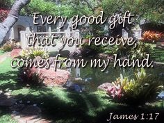 Every good gift that you receive, comes from my hand. Father's Love Letter, James 1 17, Fathers, Best Gifts, Lettering, Dads, Parents, Drawing Letters, Brush Lettering