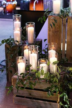 31 Elegant and Romantic Rustic Wedding Decorations . - - 31 Elegant and Romantic Rustic Wedding Decorations … – 31 Elegant and Romantic Rustic Wedding Decorations … – Rustic Wedding Decorations, Rustic Wedding Tables, Wedding Crates, Rustic Wedding Centerpieces, Wedding Seating, Wedding Ideas Candles, Wedding Ceremony Candles, Long Table Centerpieces, Fall Wedding Table Decor