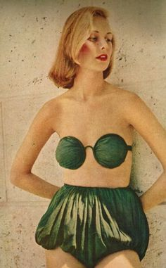 """All I can say is, """"WOW"""". """"Spectacle Suit"""" byClaire McCardell. From Life Magazine, January 17, 1949."""