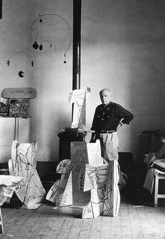 Title: Pablo Picasso in his studio Artist: Alexander Liberman Date of image: 1954, printed 1954