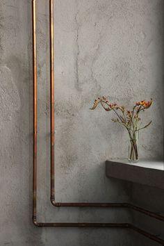 concrete and copper...