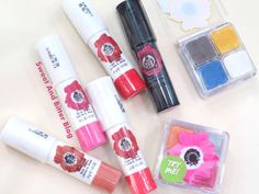 5 NEW The Body Shop Lip and Cheek Velvet Stick Swatches | Sweet and Bitter Blog - Indian Beauty Blog