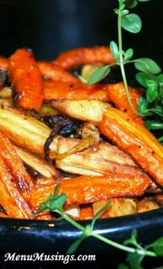 Roasted Carrots and Parsnips - one of my favorite veggie combination for the cool months, and ridiculously easy.