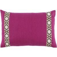 #08 Incite Linen w/ Fossil on Off White Camden Tape Lumbar Pillow