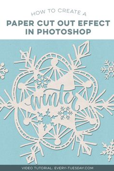 In this tutorial, we create a paper cut out effect in Photoshop using recycled paper textures, hand lettering and vector snowflakes. via @teelac