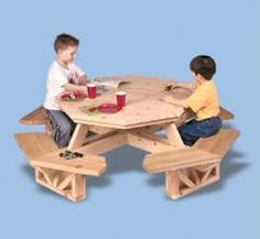 1000 Images About Hexagon Picnic Table On Pinterest