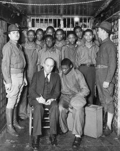 The Scottsboro Boys were nine black teenagers ages 13 to 20, who were falsely accused in 1931 of raping two white women on a train.  An all white jury found the young young men guilty, although the women eventually admitted to lying about the rape.  The youngest of the boys was blind, and was born with syphilis... proving the boys could not have raped the women without spreading the disease.  The Scottsboro Boys collectively served more than 100 years in prison.   Only one of the men…
