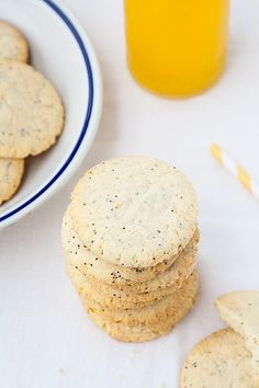 Lemon poppyseed cookies - Biscotti al limone con semi di papavero