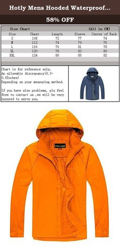 Hotly Mens Hooded Waterproof Sportswear Jacket Coat(Lily Orange,US XXL/Asian XXL). A Letter to Customer Hotly Fashion Store aims to provide the best products and service for you and make your life more convenient & brilliant. To ensure what you received works in good condition, all the products we sell from manufacturing - stocking - packing - shipping have passed strict quality test. All we want is to serve our customers well and make you feel surprised when you get the item. If you have...