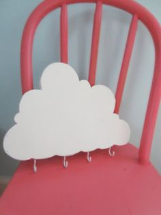 Happy Cloud Key Ring (or anything) Holder. $20.00, via Etsy.