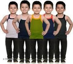 Innerwear Kid's Boy's Cotton Vest(Pack Of 5) Fabric:Cotton Sleeves: Sleeves Are Not Included Size: Age Group (0 Months - 3 Months) - 10 in Age Group (3 Months - 6 Months) - 12 in Age Group (6 Months - 9 Months) - 12 in Age Group (9 Months - 12 Months) - 14 in Age Group (12 Months - 18 Months) - 16 in Age Group (18 Months - 24 Months) - 18 in Age Group (2 - 3 Years) - 20 in Age Group (3 - 4 Years) - 22 in Age Group (4 - 5 Years) - 23 in Age Group (5 - 6 Years) - 24 in Age Group (6 - 7 Years) - 26 in Age Group (7 - 8 Years) - 27 in Age Group (8 - 9 Years) - 27 in Age Group (9 - 10 Years) - 27 in Age Group (10 - 11 Years) - 27 in Age Group (11 - 12 Years) - 28 in Age Group (12 - 13 Years) - 29 in Age Group (13- 14 Years) - 29 in Age Group (14 - 15 Years) - 29 in Type: Stitched Description: It Has 5 Pieces Of Kid's Boy's Vests Work :Printed Country of Origin: India Sizes Available: 0-3 Months, 0-6 Months, 3-6 Months, 6-9 Months, 6-12 Months, 9-12 Months, 12-18 Months, 18-24 Months, 0-1 Years, 1-2 Years, 2-3 Years, 3-4 Years, 4-5 Years, 5-6 Years, 6-7 Years, 7-8 Years, 8-9 Years, 9-10 Years, 10-11 Years, 11-12 Years, 12-13 Years, 13-14 Years, 14-15 Years *Proof of Safe Delivery! Click to know on Safety Standards of Delivery Partners- https://ltl.sh/y_nZrAV3  Catalog Rating: ★4.1 (5509)  Catalog Name: Elegant Kid's Boy's Cotton Vests Vol 9 CatalogID_228732 C59-SC1187 Code: 392-1745581-
