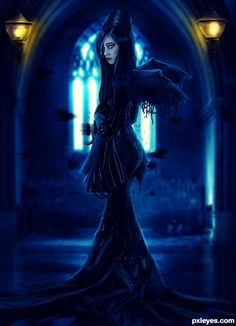 Edge of Darkness #fantasy #gothic #art