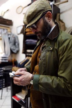 "ottomarchesi: "" "" Barbour waxed cotton and tweed - the ultimate country style inspiration from Barbour Boots, Barbour Jacket, British Country Style, Vintage Men, Vintage Fashion, Bcbg, Look Man, Boy Fashion, Fashion Sale"
