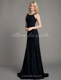 Trumpet/ Mermaid Chiffon Sweep/ Brush Train Scoop Mother of the Bride Dress - $114.99