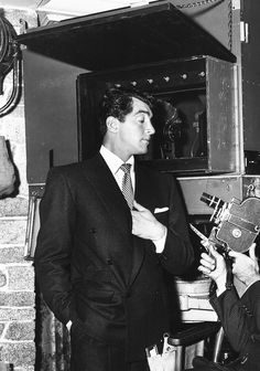 Dean Martin on the set of Money from Home, 1953