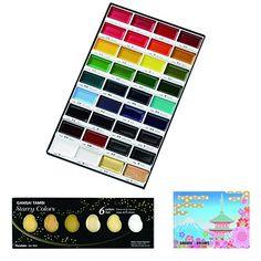 Kuretake Zig Bundle Set , Gansai Tambi 36 Colors Water Co. Kuretake Gansai Tambi, Wc Set, Watercolor Pans, Art Sets For Kids, Picture Letters, Pretty Shirts, Discount Bedding, Creative Kids, Fun Crafts