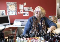 How did Mary Engelbreit get so woke? Louis artist known for cute drawings isn't holding back Colorful Drawings, Cute Drawings, Martin Show, Michael Brown, Antique Perfume Bottles, Mary Engelbreit, White Prints, St Louis, Poses