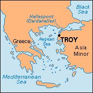 Troy Greece Map This map shows the proximity of Troy to the Greeks. Based on the