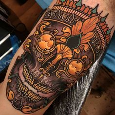 Skull tattoo By Elliott Wells