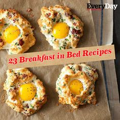 23 Breakfast in Bed Recipes like our Eggs in Clouds